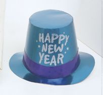 New Years Foil Glitter Top Hat